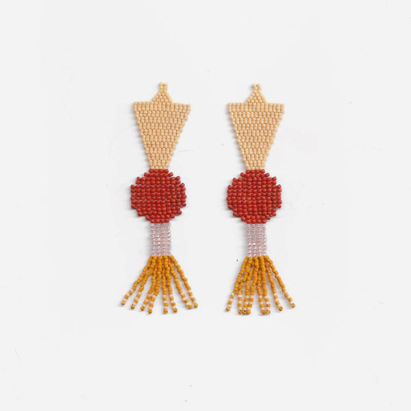 Luna Anaranjada Earrings