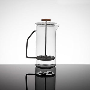 Gray Glass French Press