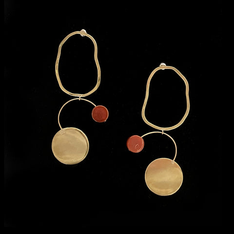 Bilanx Earrings with Carnelian