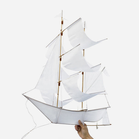 Sailing Ship Kite - White