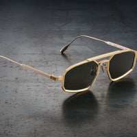 CAPOTE EYEWEAR - 741HZ GOLD | DARK GREEN G15