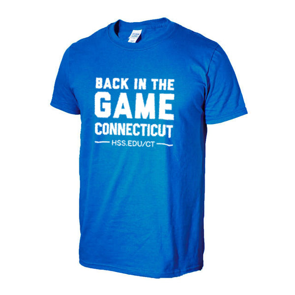 "Unisex  Blue HSS/Connecticut  ""Back in The Game"" T-Shirt"