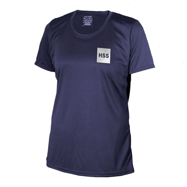 "Women's ""Back In The Game"" Short Sleeve Performance Shirt -Blue"