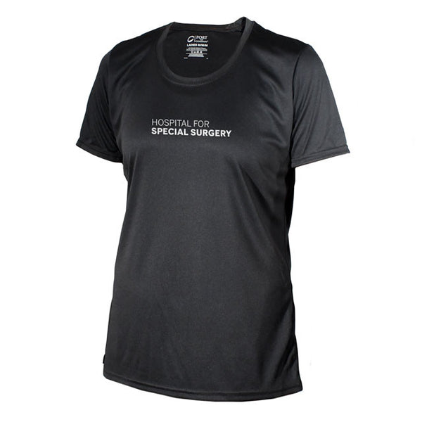 "Women's ""Back In The Game"" Performance Short Sleeve Performance Shirt - Black"