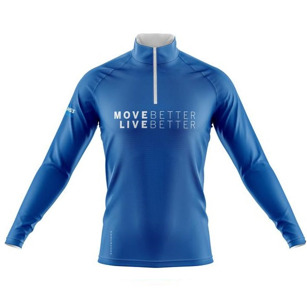 Men's Quarter Zip Blue Pullover