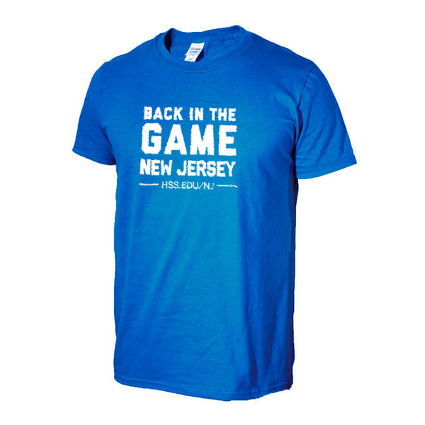 "Unisex  Blue HSS NJ  ""Back in The Game"" T-Shirt"