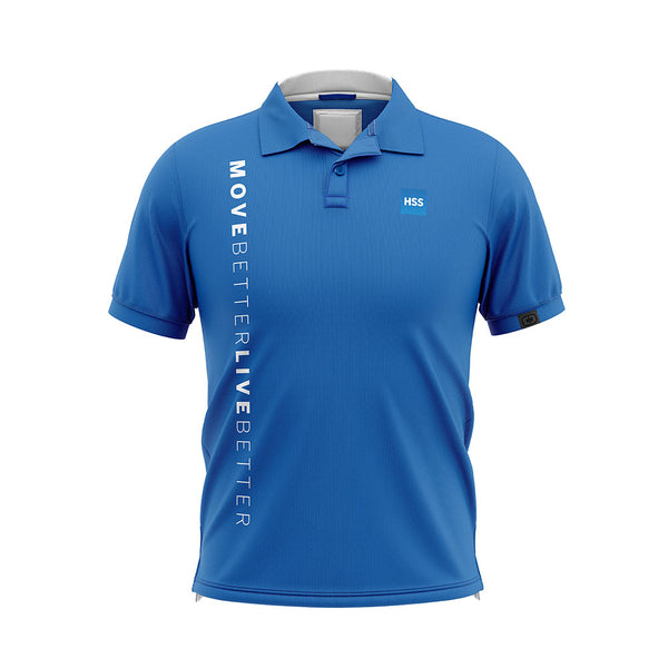 Men's Golf Shirt Blue