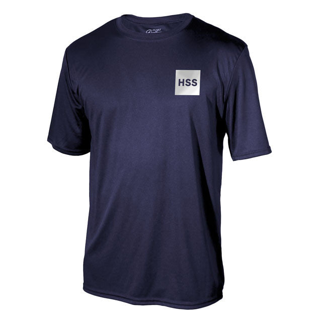 "Men's ""Back In The Game"" Short Sleeve Performance Shirt - Blue"