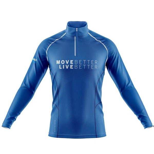 Women's Quarter Zip Blue