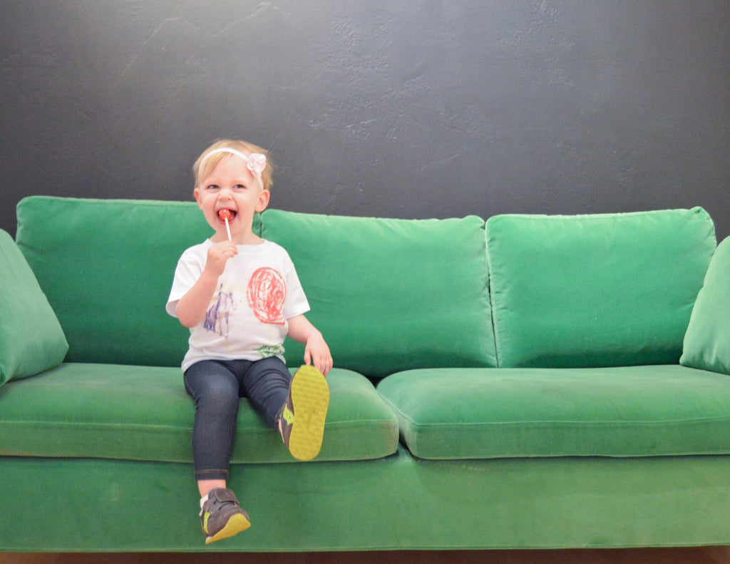 Lucky Couch at the Hi Little One Studio