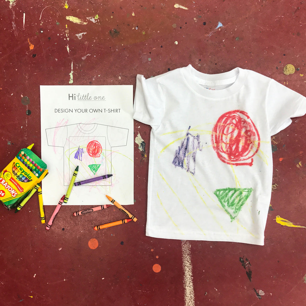 Color Your Own Onesies, T-Shirts, and Totes – Hi Little One