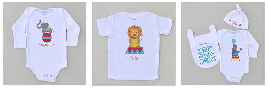 Circus Inspired Personalized Kids Clothes