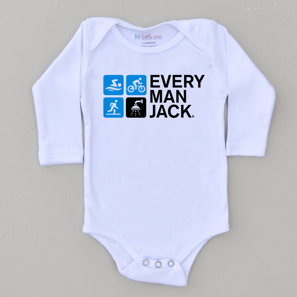 Every Man Jack Tri-Team Onesie at Hi Little One