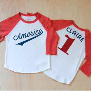 America Raglan at Hi Little One