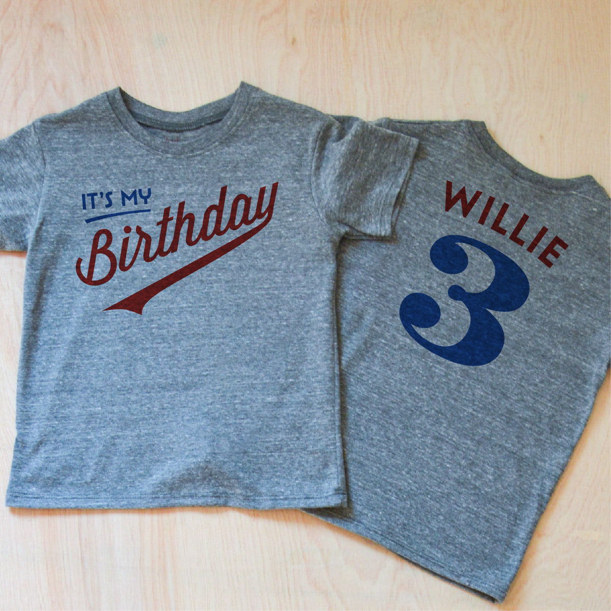 Little League Personalized Kids Birthday Gray T Shirt At Hi One
