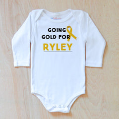 Personalized Going Gold Onesie {Children's Cancer Awareness Month} at Hi Little One