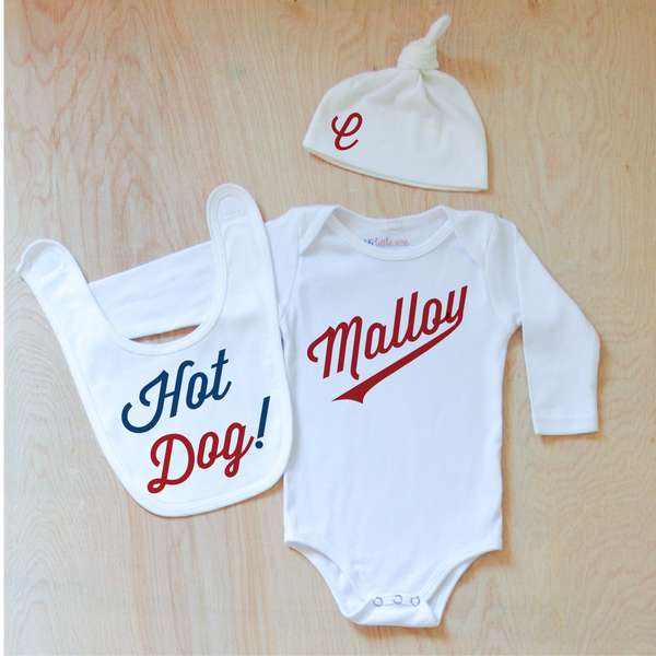 Little League Personalized 3 Piece Set