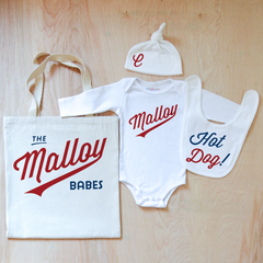 Little League Personalized 4 Piece Set at Hi Little One