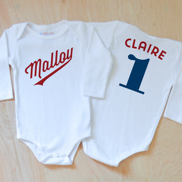 Little League Personalized Onesie