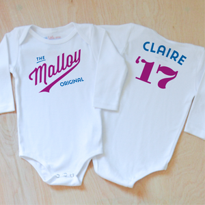 Little League Personalized Onesie at Hi Little One