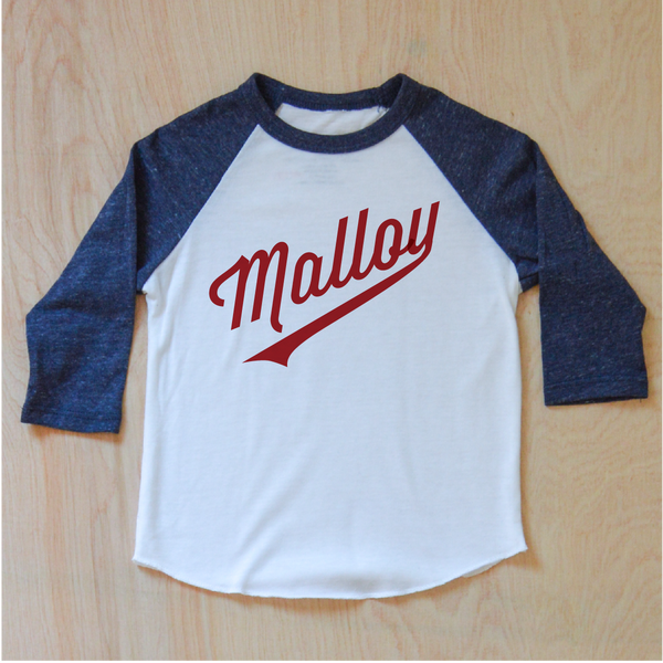 Little League Personalized Navy Raglan