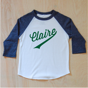 Little League Personalized Navy Raglan at Hi Little One