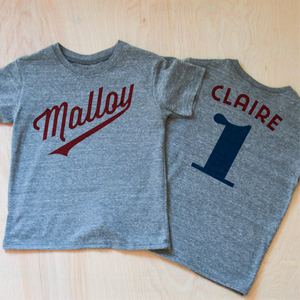 Little League Personalized Gray T-shirt at Hi Little One