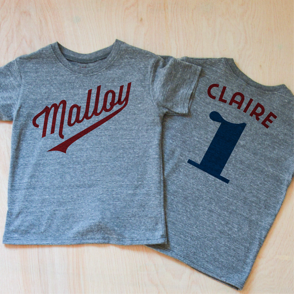 Little League Personalized Gray T-shirt