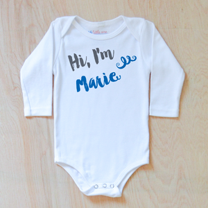 Oui Oui Personalized Onesie at Hi Little One