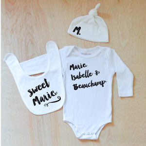 Oui Oui Personalized 3 Piece Set at Hi Little One