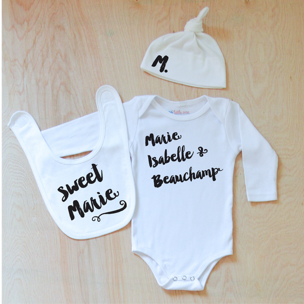 Oui Oui Personalized 3 Piece Set