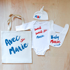 Oui Oui Personalized 4 Piece Set at Hi Little One