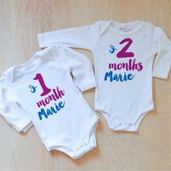 Oui Oui Personalized Month by Month Set at Hi Little One