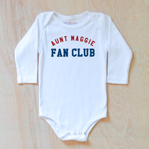 Personalized Fan Club Onesie at Hi Little One