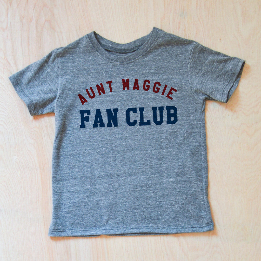 Personalized Fan Club Gray T-Shirt