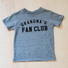 Personalized Fan Club Gray T-Shirt at Hi Little One