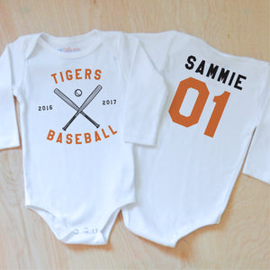 Varsity Personalized Onesie at Hi Little One