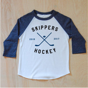 Varsity Personalized Navy Raglan at Hi Little One