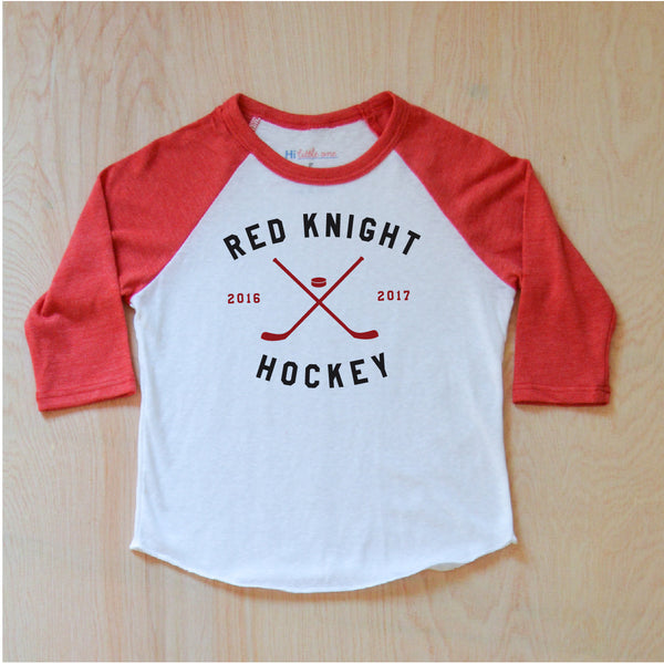 Varsity Personalized Red Raglan at Hi Little One