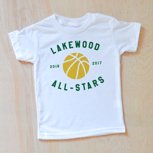 Personalized Varsity T-Shirt at Hi Little One