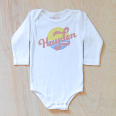 Vintage Summer Personalized Onesie at Hi Little One