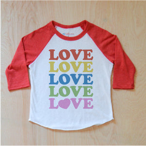 All the Love Raglan at Hi Little One