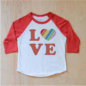 Love Rules Raglan at Hi Little One