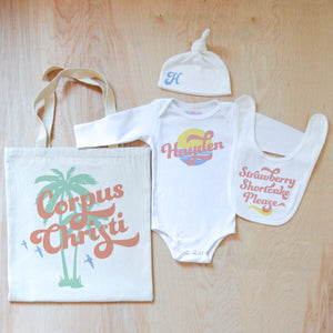 Vintage Summer Personalized 4 Piece Set at Hi Little One
