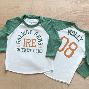 Galway Arms Cricket Club Green Raglan at Hi Little One
