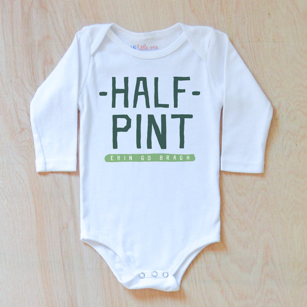 Half Pint St. Patrick's Day Onesie at Hi Little One