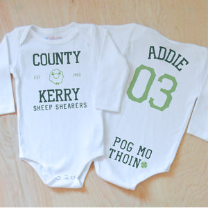 County Kerry Sheep Shearers Onesie at Hi Little One