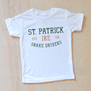 St. Patrick Snake Drivers T-shirt at Hi Little One