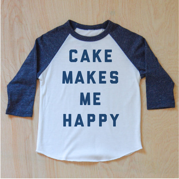 Cake Makes Me Happy Raglan {Miss Jones}