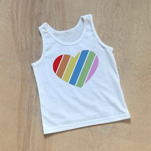 Rainbow Heart Kids Tank Top at Hi Little One